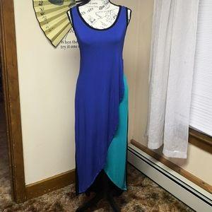 Calvin Klein tulip hem high low dress
